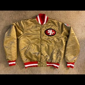 Gold SF 49ers Starter Jacket - Medium - VTG MINT